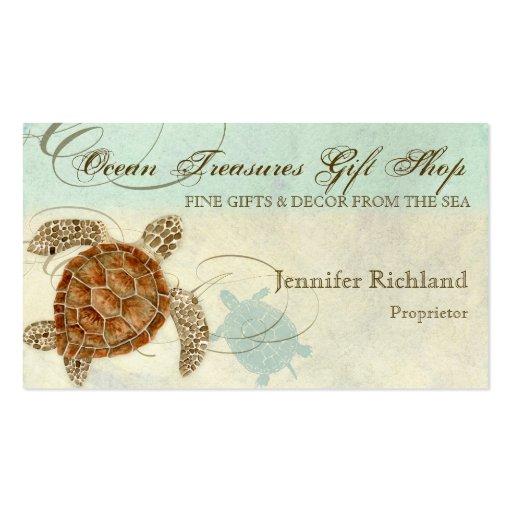 Plage côtière de tortue de mer - cartes de visite cartes de visite personnelles