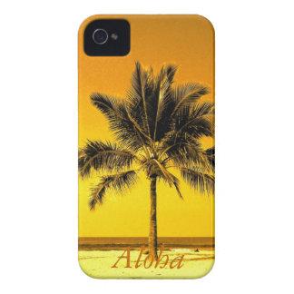 Plage de palmier d'île