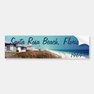 Plage de Santa Rosa, la Floride 1969 Autocollant De Voiture