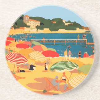 Plage vintage de la Côte d'Azur Dessous De Verres