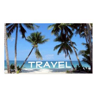 plage, voyage carte de visite