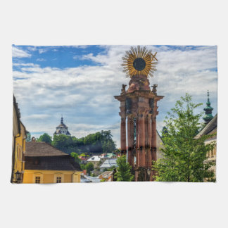 Plague column, Banska Stiavnica, Slovakia Kitchen Towel