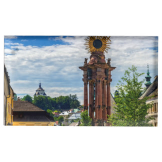 Plague column, Banska Stiavnica, Slovakia Place Card Holder