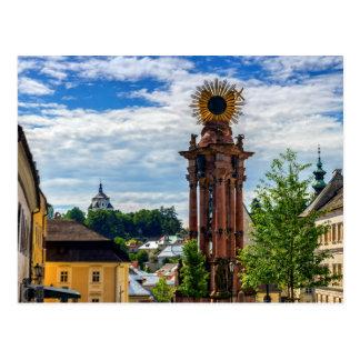 Plague column, Banska Stiavnica, Slovakia Postcard
