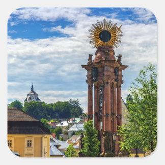 Plague column, Banska Stiavnica, Slovakia Square Sticker