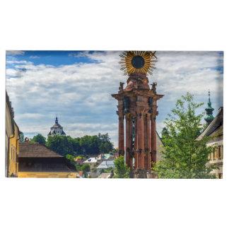 Plague column, Banska Stiavnica, Slovakia Table Card Holder
