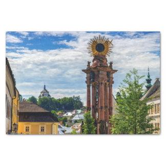 Plague column, Banska Stiavnica, Slovakia Tissue Paper
