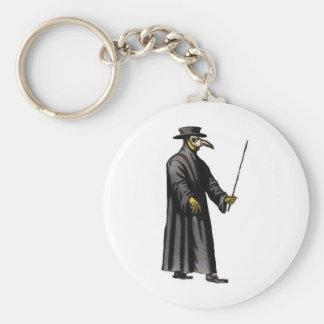 plague-doctor-3 basic round button keychain