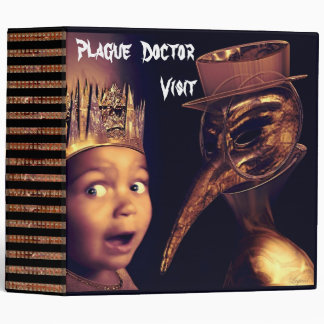 Plague Doctor Macabre 3 Ring Binder