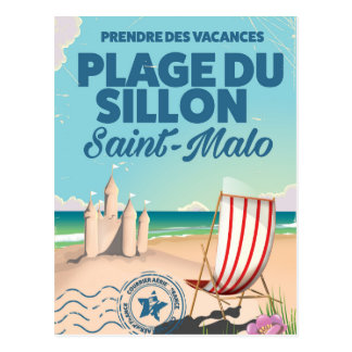 Plague du sillon,France travel poster Postcard