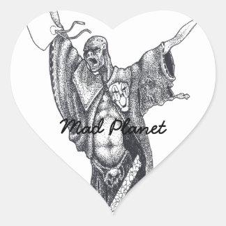 Plague Monk Sketch Heart Sticker