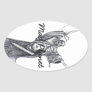 Plague Monk Sketch Oval Sticker