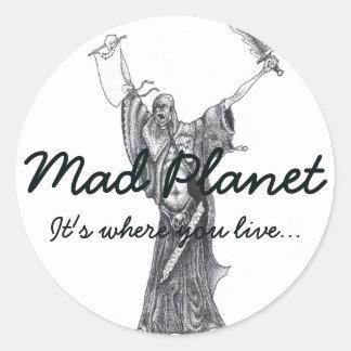Plague Monk Sketch Round Sticker