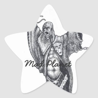 Plague Monk Sketch Star Sticker