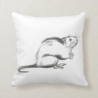 Plague rat sketch pillow