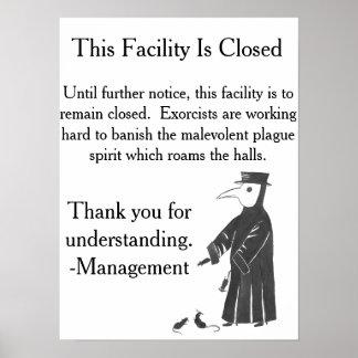 Plague Spirit Facility Closed Poster