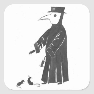 Plague Spirit Square Sticker