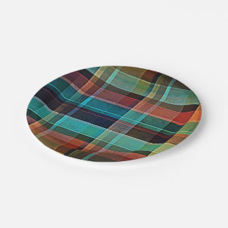 Plaid 17 7 inch paper plate