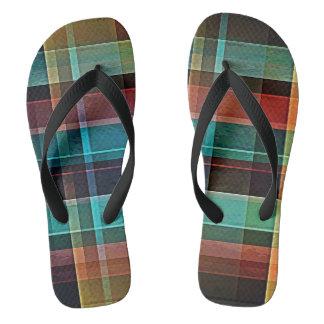 Plaid 17 flip flops