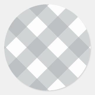 Plaid 1 Paloma Classic Round Sticker
