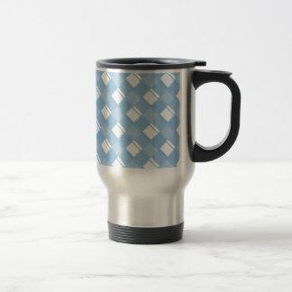 Plaid 3 Placid Blue Travel Mug