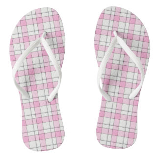 Plaid Adult, Slim Straps Flip Flops