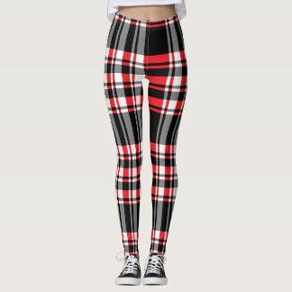 Plaid background pattern leggings