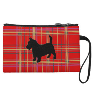 Plaid bags and purses, with Scotty dog