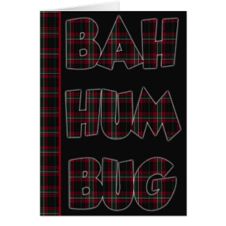 Plaid Bah Humbug Card