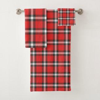 Plaid Bath Towel Set