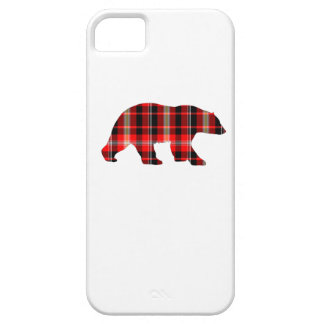 Plaid bear phone cover. case for the iPhone 5