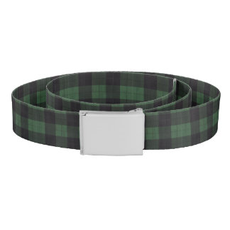 plaid black green country rustic stylish belt