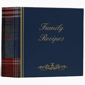 """Plaid bleu 2"""" de recettes de famille album photos"""