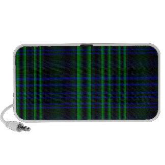 Plaid bleu et vert mini haut-parleur