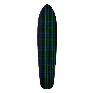 Plaid bleu et vert plateaux de skateboards