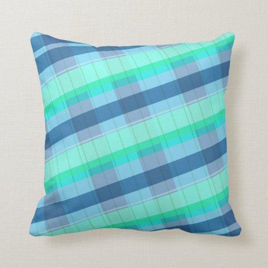 Plaid Blue Green pillow