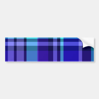 Plaid Blue Purple Bumper Sticker