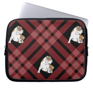 Plaid Bulldog Computer Sleeve