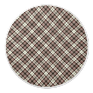 Plaid Ceramic Knob