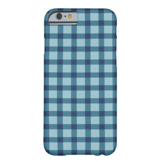 Plaid/Checkered Blue Barely There iPhone 6 Case