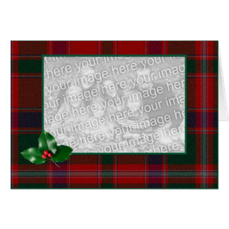 Plaid Chrismtas Photo Greeting Card