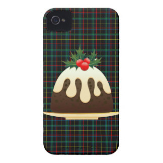 plaid christmas puddings iPhone 4 Case-Mate cases