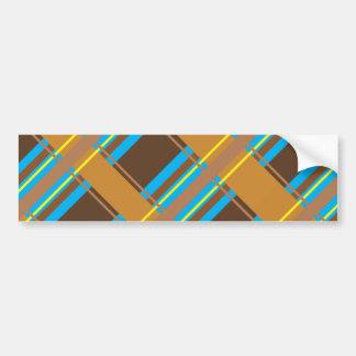 Plaid cyan Bumpersticker de chocolat Autocollant De Voiture