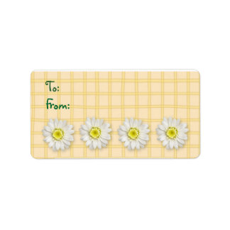 Plaid Daisies Yellow Label