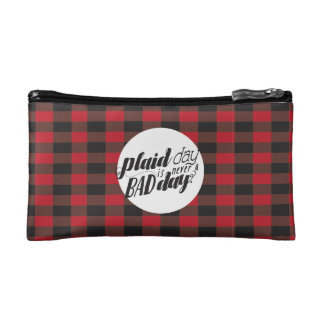 Plaid Day is Never a Bad Day Makeup Bag