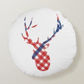 Plaid Deer Pillow