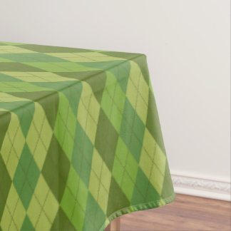 Plaid Design Green Tones Tablecloth