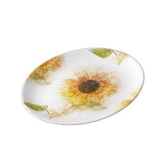 plaid design plate