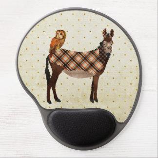 Plaid Donkey Owl Mousepad Gel Mousepads