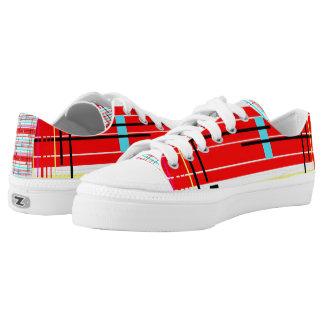 Plaid Etc. Low-Top Sneakers